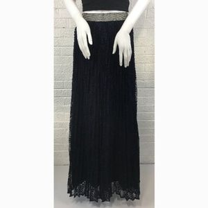 Lucy Paris Nasty Gal navy blue lace maxi skirt